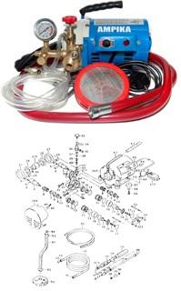 Электрические насосы для опрессовки типа ЕНА, МНА /опрессовщик электрический/