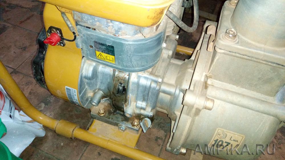 Пример поломки двигателя мотопомпы вследствие работы двигателя без масла